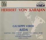 VERDI - Karajan - Aida, opéra en quatre actes (Live Wien, 3 - 2 - 1951) Live Wien, 3 - 2 - 1951