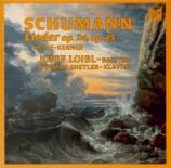 SCHUMANN - Loibl - Liederkreis (Heine), cycle de neuf mélodies pour voix