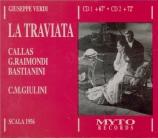 VERDI - Giulini - La traviata, opéra en trois actes Live Milano, 19 - 1 - 1956