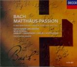 BACH - Ozawa - Passion selon St Matthieu(Matthäus-Passion), pour solist Import Japon