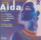 VERDI - Serafin - Aida, opéra en quatre actes (Live Milano, 1955) Live Milano, 1955