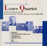 MOZART - Lener String Qu - Divertimento n°17, pour quatuor à cordes et d Import Japon