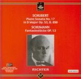 SCHUBERT - Richter - Sonate pour piano en ré majeur op.53 D.850 'Gastein