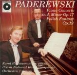 PADEREWSKI - Radziwonowicz - Concerto pour piano et orchestre en la mine