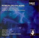 KALSONS - Zarins - Concerto pour violon et orchestre