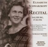Recital Salzburg, 7/8/1956