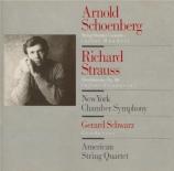 SCHOENBERG - Schwarz - Concerto pour quatuor à cordes et orchestre