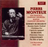 RIMSKY-KORSAKOV - Monteux - La grande Pâque russe, ouverture op.36 Live