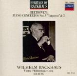 BEETHOVEN - Backhaus - Concerto pour piano n°5 en mi bémol majeur op.73 Import Japon