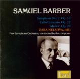 BARBER - Barber - Symphonie n°2 op.19