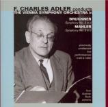 BRUCKNER - Adler - Symphonie n°3 en ré mineur WAB 103