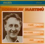 MARTINU - Dubeau - Sonate pour flûte, violon et piano H.245