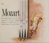 MOZART - Horenstein - Messe en do majeur, pour solistes, chœur, orgue et