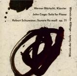 SCHUMANN - Bärtschi - Sonate pour piano n°1 en fa dièse mineur op.11 'Fl