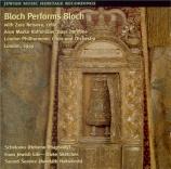 Bloch performs Bloch