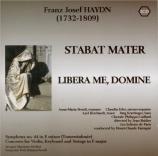 HAYDN - Fantapié - Stabat Mater, pour quatre solistes, chœur mixte, orch