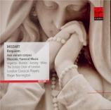MOZART - Norrington - Maurerische Trauermusik, musique maçonnique funéra