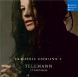 TELEMANN - Oberlinger - Fantaisie pour flûte traversière  -  flûte à bec
