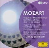 MOZART - Bernstein - Requiem pour solistes, chœur et orchestre en ré min