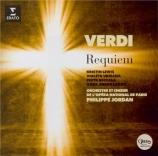 VERDI - Jordan - Messa da requiem, pour quatre voix solo, chœur, et orch