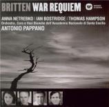 BRITTEN - Pappano - War requiem, pour solistes, ensemble de chambre, chœ