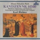 BACH - Richter - Herz und Mund und Tat und Leben, cantate pour solistes Import Japon