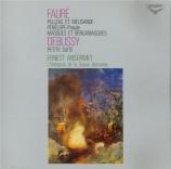 FAURE - Ansermet - Pelléas et Mélisande op.80 : suite pour orchestre Import Japon