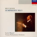 BRUCKNER - Maazel - Symphonie n°5 en si bémol majeur WAB 105 Import Japon