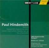 HINDEMITH - Creed - Lieder nach alten Texten op.33