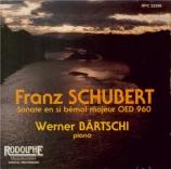 SCHUBERT - Bärtschi - Sonate pour piano en si bémol majeur D.960