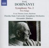 DOHNANYI - Jimenez - Symphonie n°2 op.40