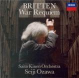 BRITTEN - Ozawa - War requiem, pour solistes, ensemble de chambre, chœur SHM-CD Import Japon