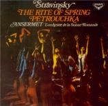 STRAVINSKY - Ansermet - Le sacre du printemps, ballet pour orchestre import Japon