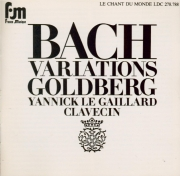 BACH - Le Gaillard - Variations Goldberg, pour clavier BWV.988