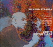 STRAUSS - Mitropoulos - Symphonia domestica, pour grand orchestre op.53