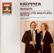 KROMMER - Meyer - Concerto pour deux clarinettes en mi bémol majeur op.3