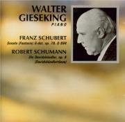SCHUBERT - Gieseking - Sonate pour piano op.78 D.894 'Fantasie'