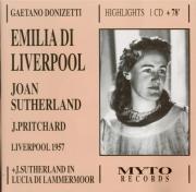 DONIZETTI - Sutherland - Emilia di Liverpool : Extraits Liverpool septembre 1957 + London 1959