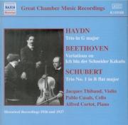 SCHUBERT - Thibaud - Trio avec piano n°1 en si bémol majeur op.99 D.898