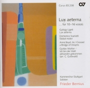 Lux aeterna ... for 10-16 voices