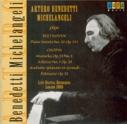 BEETHOVEN - Michelangeli - Sonate pour piano n°32 op.111 live London 10 - 5 - 90