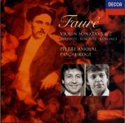 FAURE - Amoyal - Sonate pour violon et piano n°1 en la majeur op.13