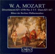 MOZART - Bläser der Berl - Douze duos pour deux cors (ou pour violon et