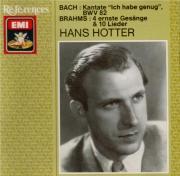 BRAHMS - Hotter - Ernste Gesänge, quatre chants sérieux pour basse solo