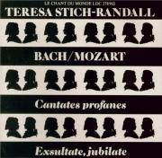 BACH - Stich-Randall - Weichet nur, betrübte Schatten, cantate pour sopr