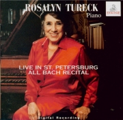 BACH - Tureck - Adagio pour clavier en sol majeur BWV.968 Live in St. Petersburg - All Bach recital