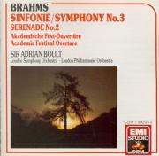 BRAHMS - Boult - Symphonie n°3 pour orchestre en fa majeur op.90