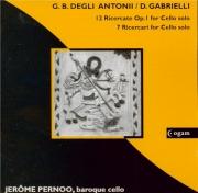 GABRIELLI - Pernoo - Ricercari pour violoncelle seul
