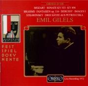 MOZART - Gilels - Sonate pour piano n°18 en fa majeur K.533