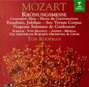 MOZART - Koopman - Messe en do majeur, pour solistes, chœur, orgue et or